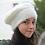Béret, laine, mohair, bleu blanc, tricoté main, De maille en fille, Boutique Les créateurs de saison, Paris