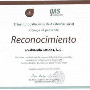 Salvando Latidos recibe Reconocimento del IJAS