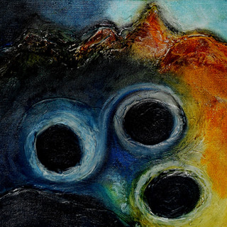 2. Coming Home to Roost oil pastel on ca