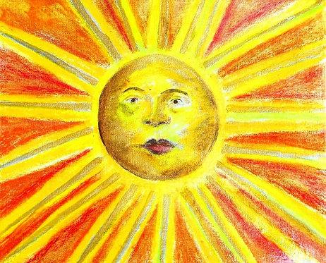 Lucky Ole Sun mixed media on canvas