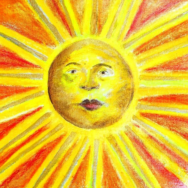 11. Lucky Ole Sun mixed media on canvas