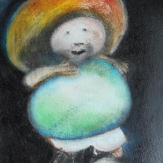 22. Raton Perez  mixed media on canvas R