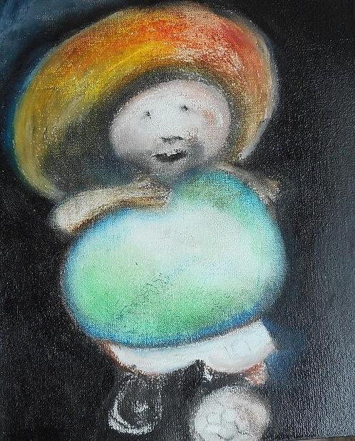 Raton Perez  mixed media on canvas R