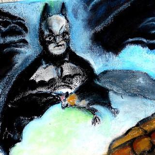 19. Foxbat and Batman original mixed med