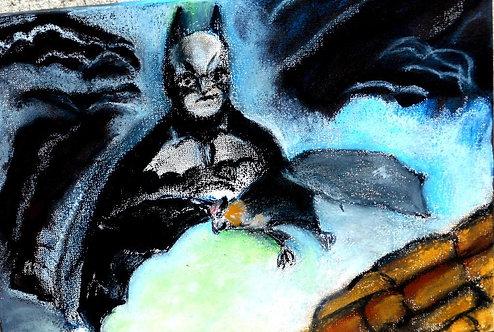 Foxbat and Batman original mixed med