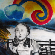 Dorothy and Over the Rainbow mixed media