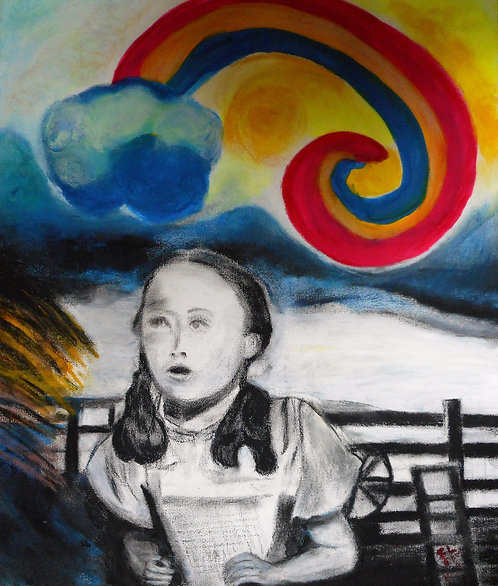 Dorothy and Over the Rainbow mixed media
