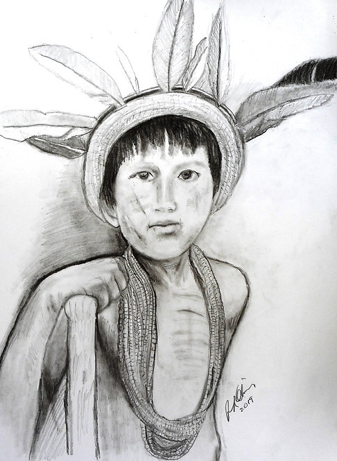 Yapu Boy charcoal and graphite on paper RLO