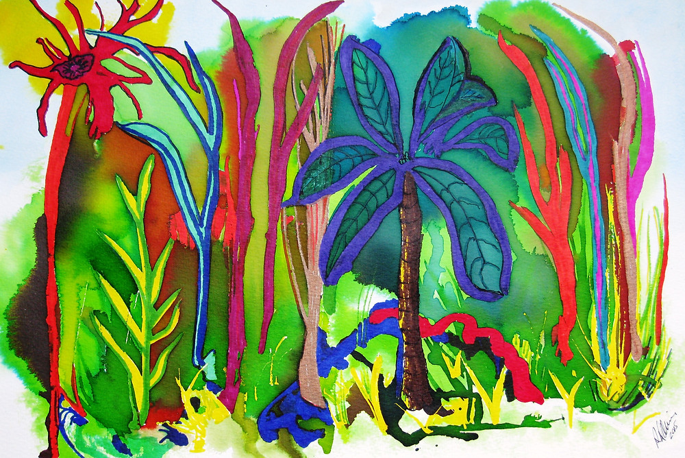 Crayon Jungle abstract in ink and marker Experimental Series RLO Mar 201 5.JPG