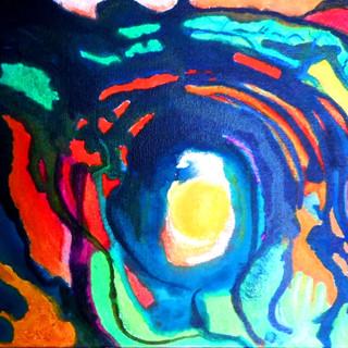10. Boxed Light mixed media on canvas RL