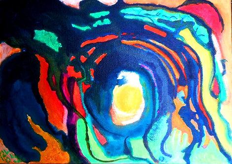 Boxed Light mixed media on canvas RL