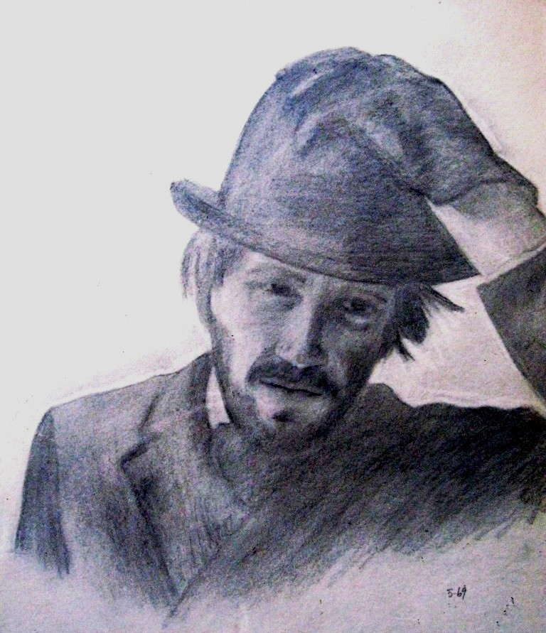 3. Country Doctor pencil drawing on AF paper May 1969.JPG