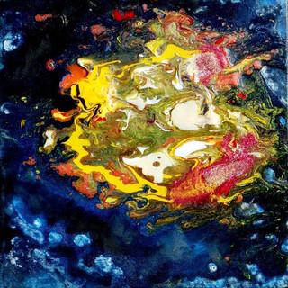 3. Fluid Black Hole acrylic and oil past