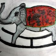 26. Rocky the Indian Elephant mixed medi