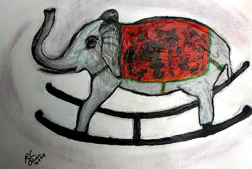 Rocky the Indian Elephant mixed medi