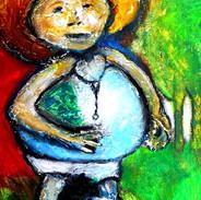 17. Perez Redondo mixed media on canvas