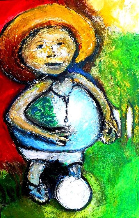 Perez Redondo mixed media on canvas