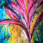15. Crotus Fucsia mixed media on canvas