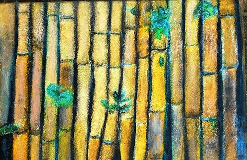 Bambu Borders mixed media on canvas