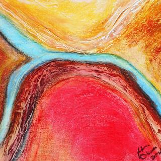 1. Blue Threads in the Desert oil pastel