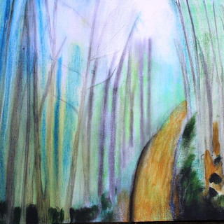 24. Through the Mist mixed media on canv
