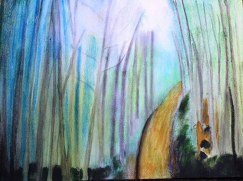 Through the Mist mixed media on canv