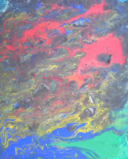 Olympic Dissolution acrylics on canv