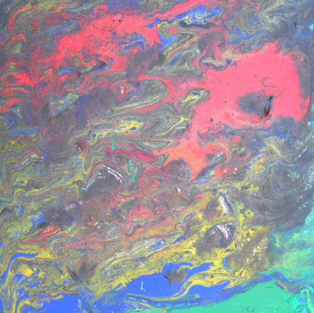13. Olympic Dissolution acrylics on canv