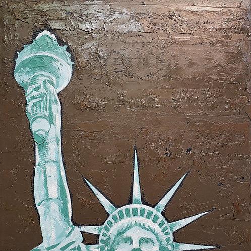 Give Us Liberty - Mint Olive Charcoal
