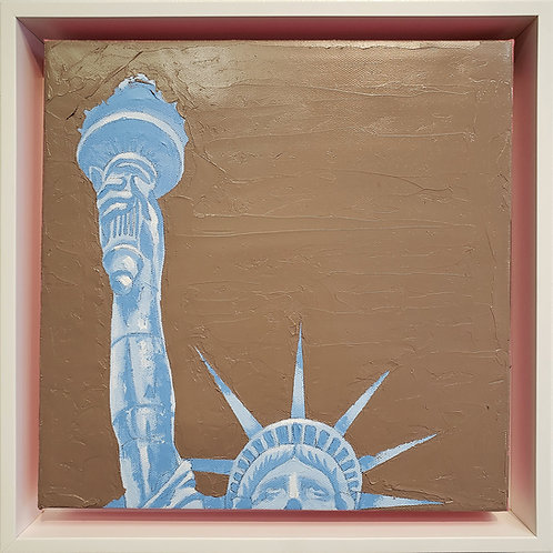 Give Us Liberty - Chocolate Suede Porcelain Blue
