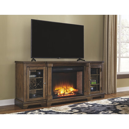 Flynnter TV stand with Fireplace