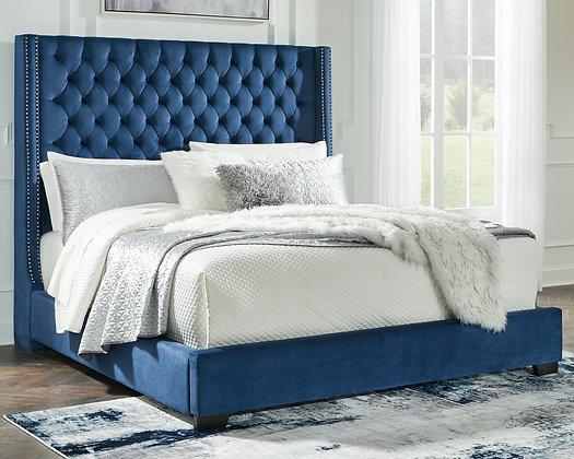 Coralyne Navy Queen Bed