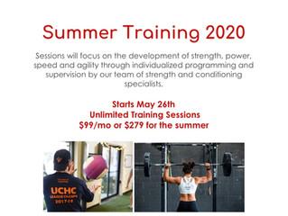 2020 SUMMER ATHLETIC PERFORMANCE TRAINING