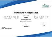 Sample Safeguarding Awareness Certificat