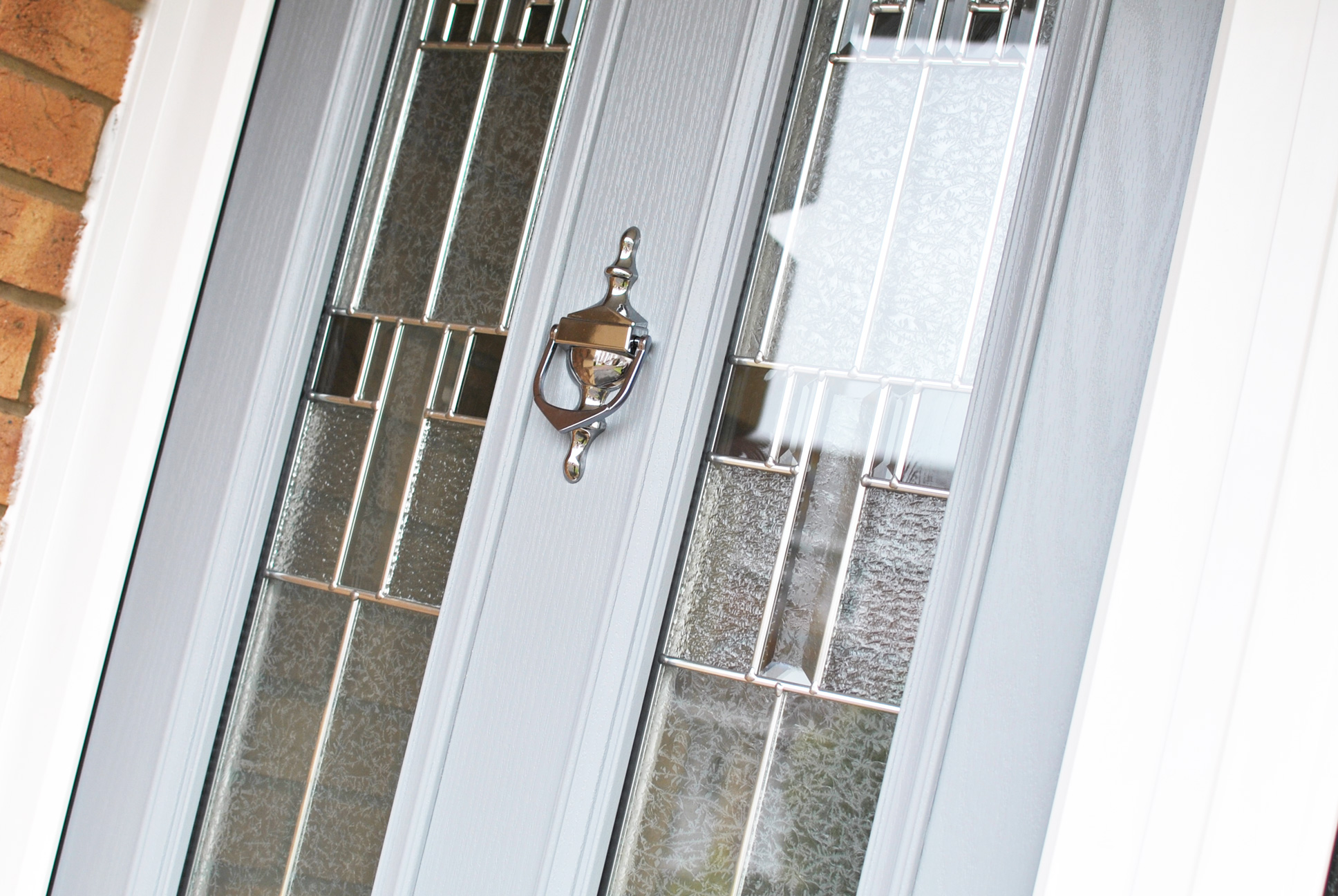 Light Grey Door with Silver Knocker