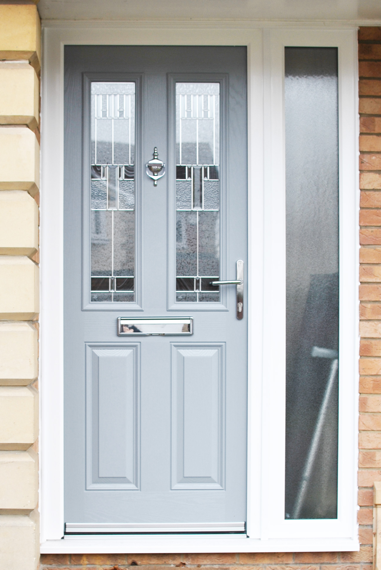 Composite Door in Light Grey