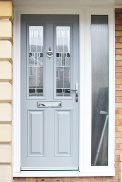 Composite Door in Light Grey