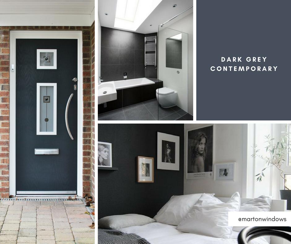Dark Grey Contemporary Interior Design Ideas - Modern Interior Design Ideas