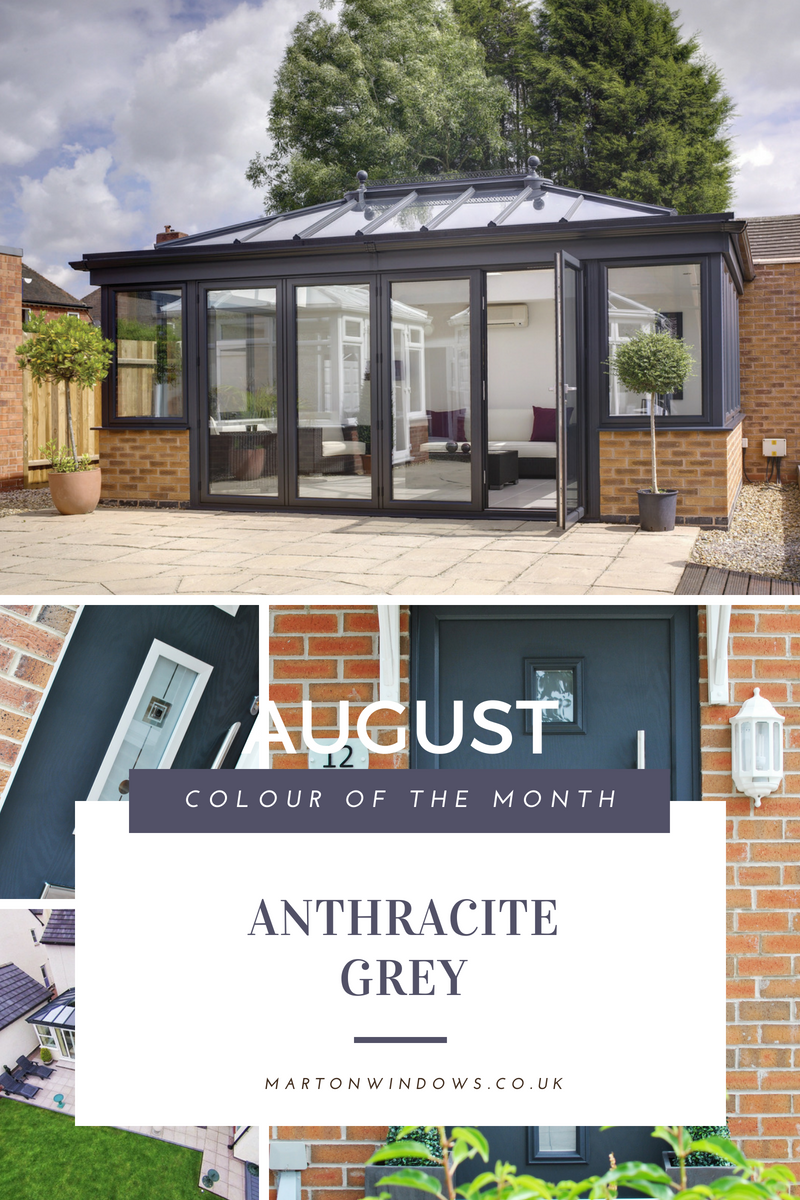 Anthracite Grey Composite Door & UPVC Window Colour of the Month by Marton Windows
