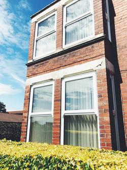 White Top Opening Sash bay windows