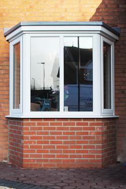White UPVC Bay Windows