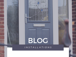 Installation of the Week: Elephant Grey Composite Door with Modern Glass Design