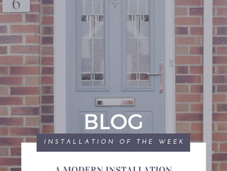 Installation of the week: A Modern Installation with composite door in Elephant Grey