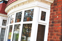 Bay windows with Top Stained Glass
