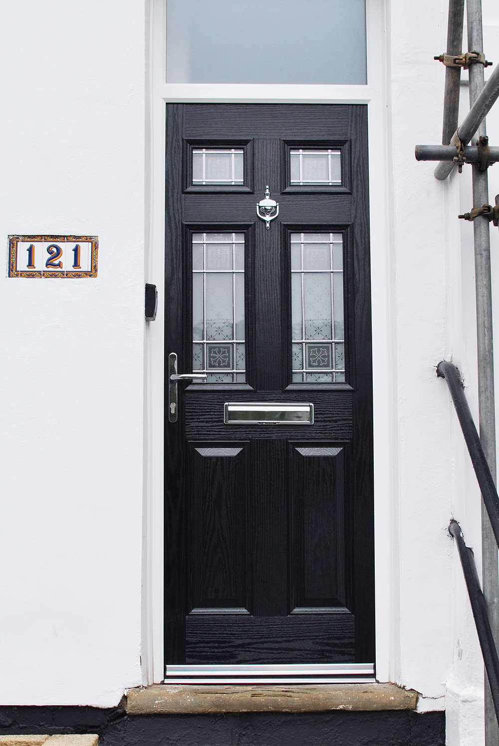 A Classy Black Composite Door installation in Brotton - Redcar - Cleveland - Teesside - Middlesbrough - Marton Windows - Coulby Newham - Durham - Darlington