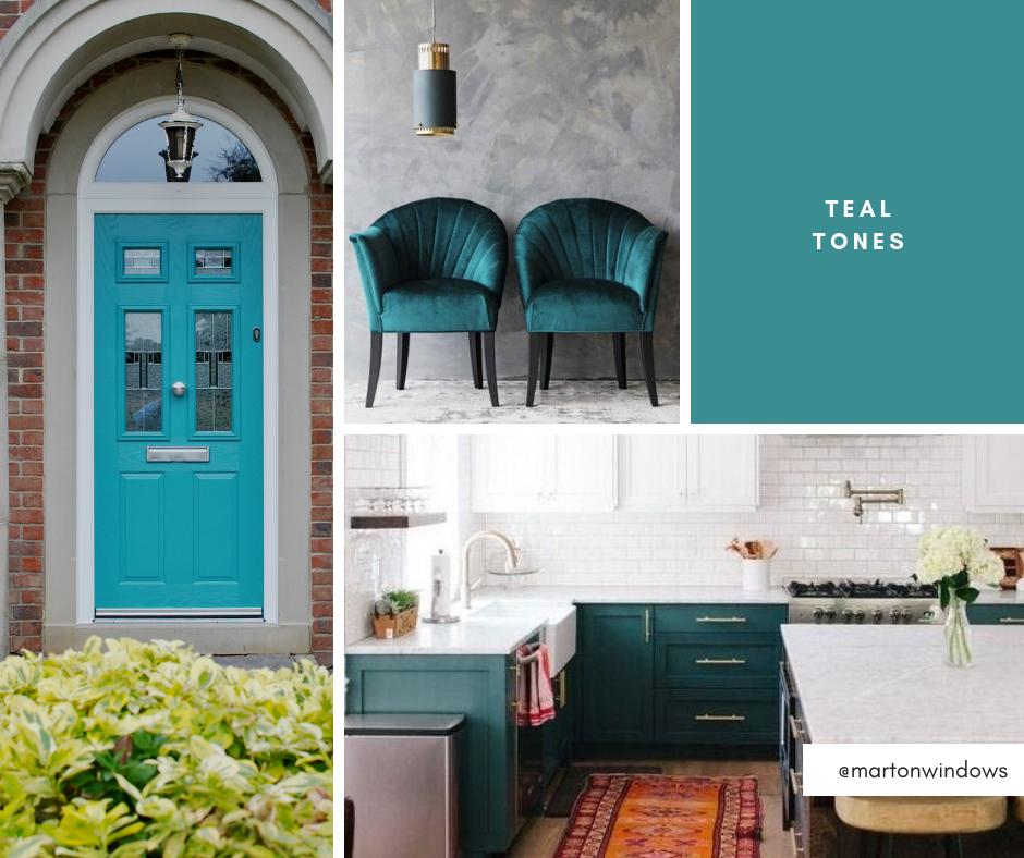 Teal green composite doors - Teeside - Middlesbrough
