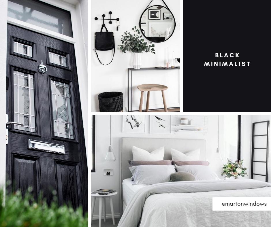 Black Minimalist - Interior Design Inspiration - Composite Door Installation in Middlesbrough, Teesside, Redcar and Cleveland