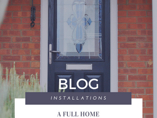 Installation of the Week: Full Home Renovation with Stunning Blue Composite Door