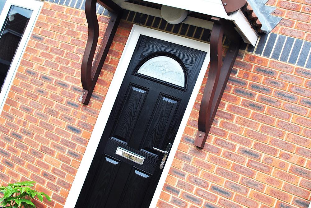 Black composite door - Half Cresent - Door installations teesside