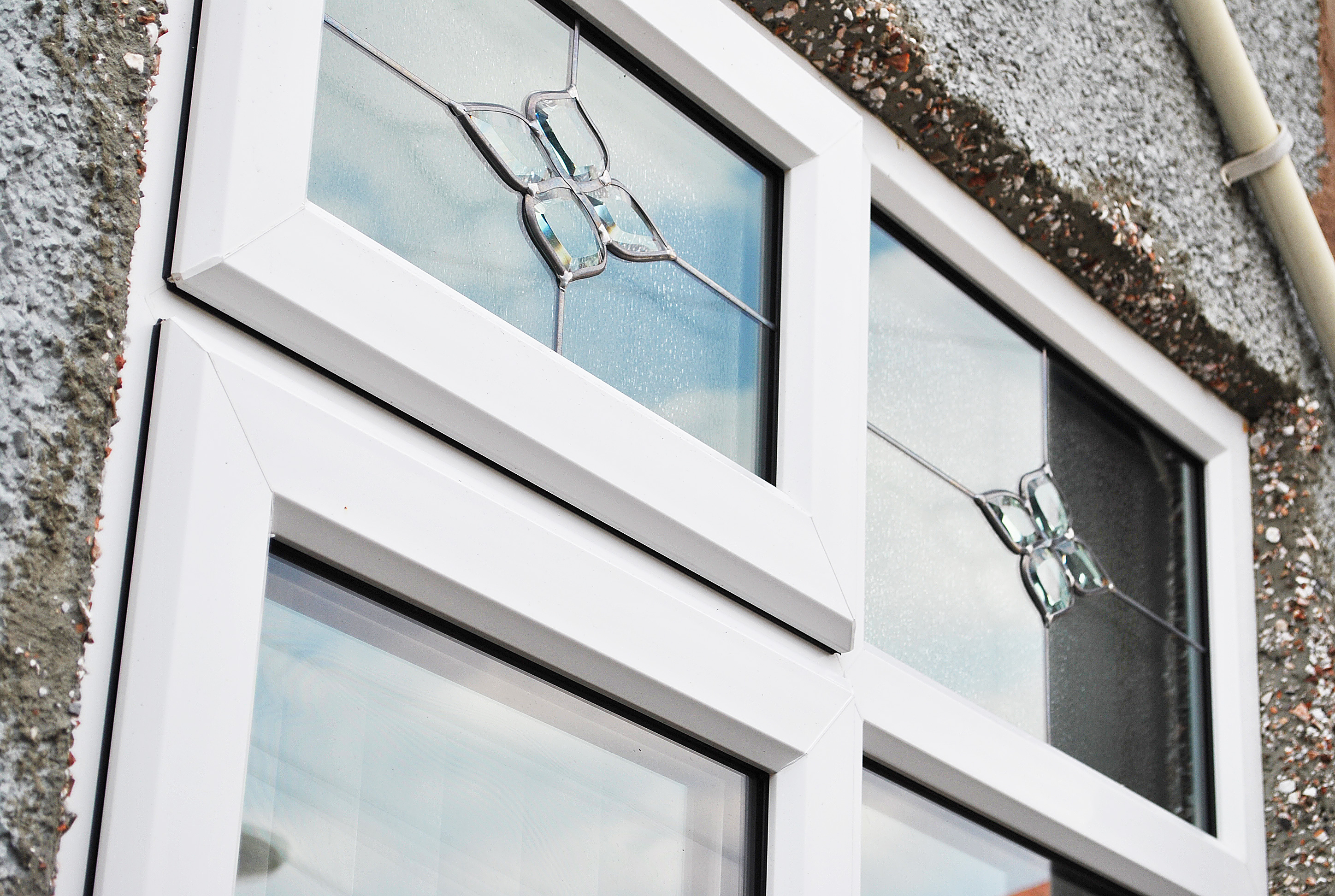 Glass Bevel and Lead Top Sash Detail